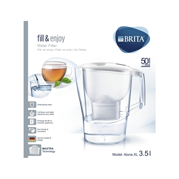 Brita Aluna XL Filtreli Su Arıtmalı Sürahi (Beyaz)