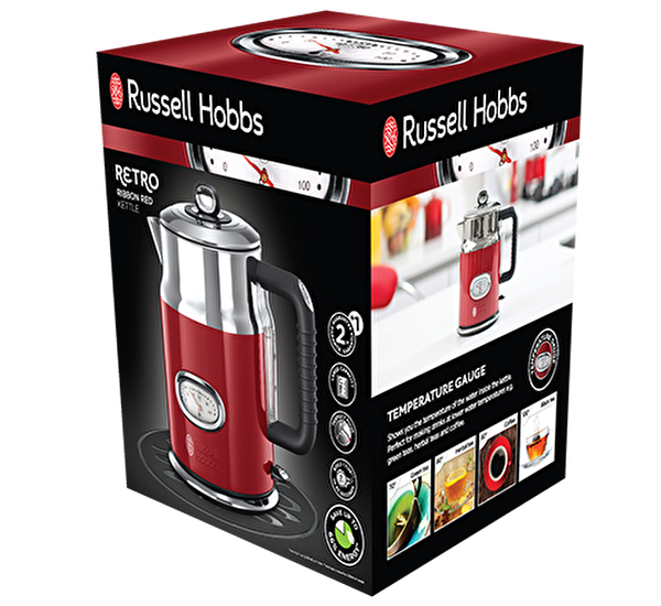 Russell Hobbs 21670-70 Retro Kettle - Kırmızı