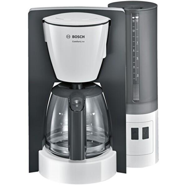 Bosch TKA6A041 Cam Sürahi Damla Emniyetli Filtre Kahve Makinesi Beyaz