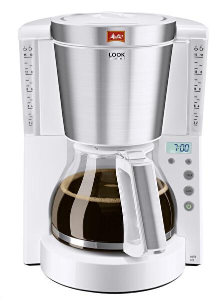Melitta Zaman Ayarlı Beyaz Filtre Kahve Makinesi