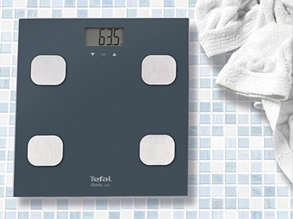 Tefal BM2520V0 Body Up Hafızalı Akıllı Gri Dijital Banyo Tartısı