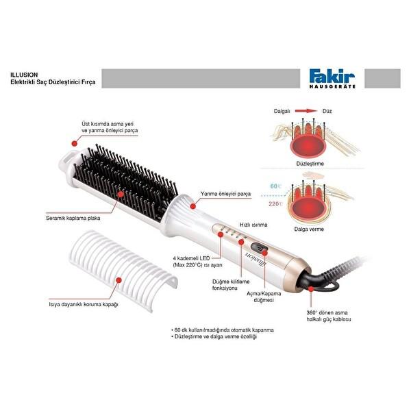 Fakir Illision Düzleştirici Saç Fırçası - Kum Pembe