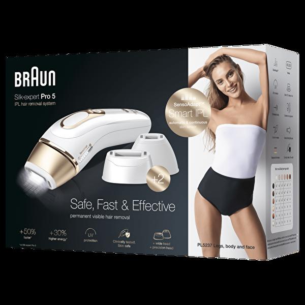 Braun Silk Expert Pro5 PL5237 Yeni Nesil Kablolu IPL 400.000 Işık Atımı Lazer Epilasyon