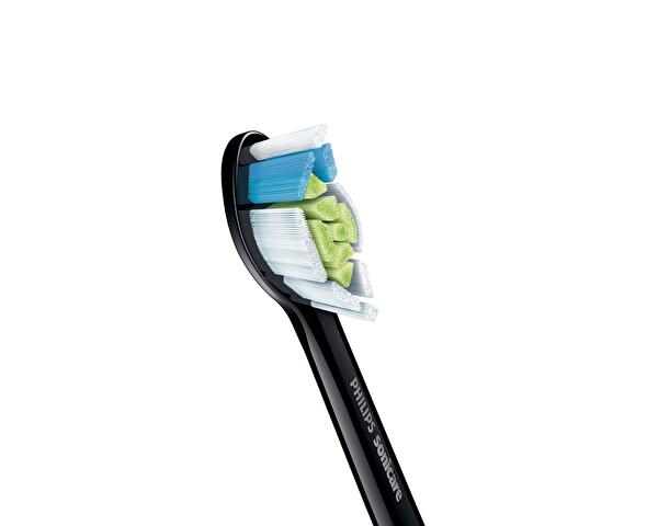 Philips Sonicare HX6062/13  Optimal White  Sonic Şarjlı Diş Fırçası Yedek Başlıkları  2li Siyah