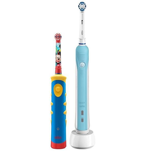 ORAL-B D16 Diş Fırçası Yanında D10 Çocuk Diş Fırçası Paketi