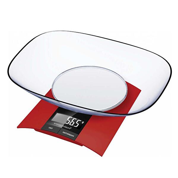 Premier PKS293 LCD Göstergeli Taslı Mutfak Tartısı