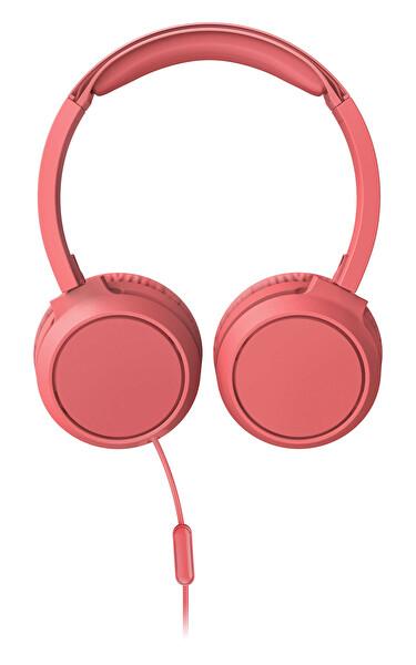 Phılıps TAH4105RD/00 Kulak Üstü Mikrofonlu Kablolu Kulaklık Kırmızı