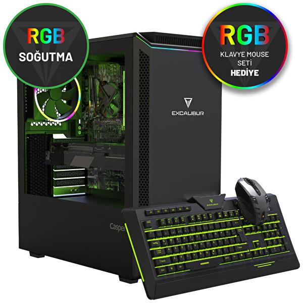 Casper Excalibur E600 Intel Core i7-10700F 16 GB RAM 500 NVME 8GB 2060 SUPER Win 10 Home Siyah Desktop