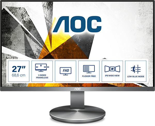 "AOC I2790VQ/BT 27"" 4ms HDMI+DP+VGA Full HD IPS LowBlue Light Monitör"