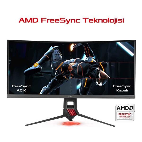 ASUS XG35VQ 35 Gaming  VA Kavisli Aura RGB FreeSync 3440x1440 4ms 100hz 3YIL HDMI x2DP 2xUSB  VESA Düşük Mavi Işık AuraSync MONITOR