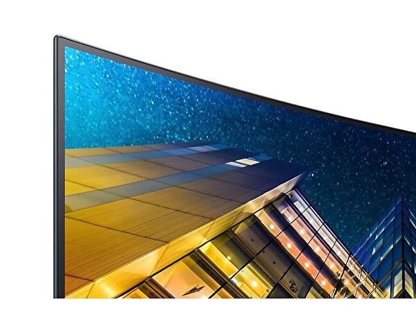 """Samsung CRV 32""""LU32R590CWMXUF DP 2HDMI UHD Monitör"""