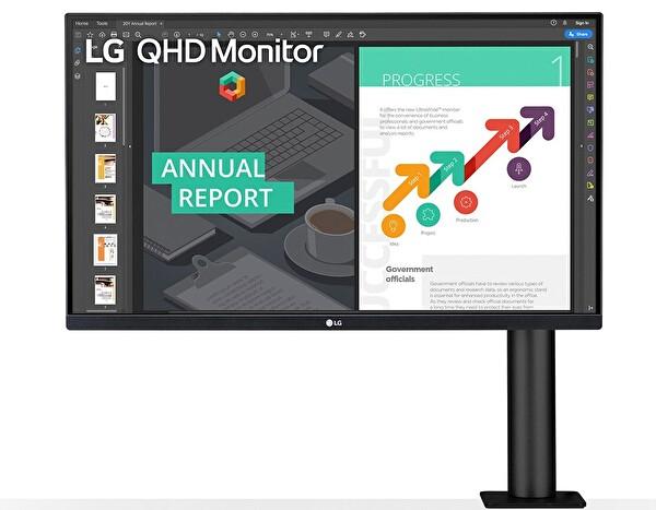 "LG 27QN880-B 27"" Ergo QHD HDR10 IPS AMD FreeSync Monitör"