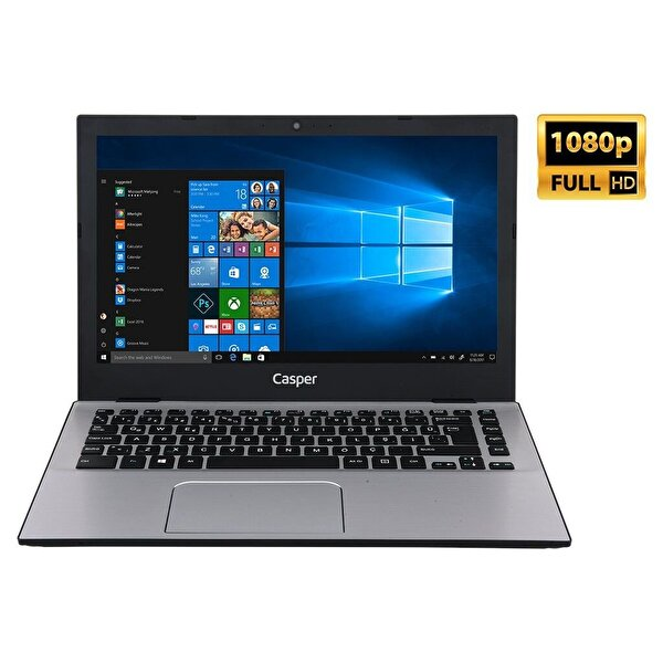 "Casper F300.7200-8D00P-S Intel Core i5-7200U 2.5GHz 8GB 240GB SSD 13.3"" Notebook"