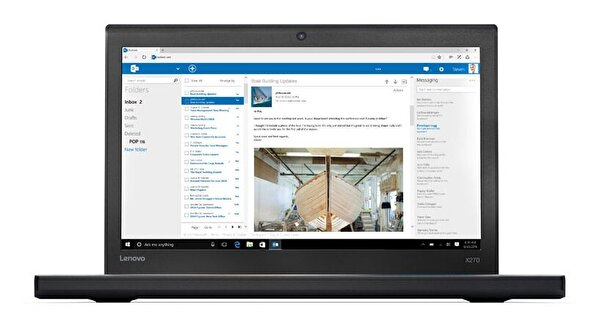 "Lenovo Thinkpad X270 Intel® i7-7600U 2.8GHz 16GB 256GB SSD Intel HD Graphics 12.5"" Notebook"