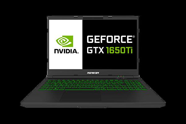 "Monster Abra A5 V15.8.2 Intel Core I7 10750H"" 16 GB DDR4 Ram 256 GB SSD Nvidia Geforce GTX1650Tİ 4GB 15"" Siyah Notebook"