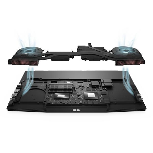 """Dell Gaming 5 G5154b750w165c i710750h 16GB Ram 512GB Ssd Gtx1650ti 4GB 15.6"""" Fhd Wın10 Gaming Notebook"""