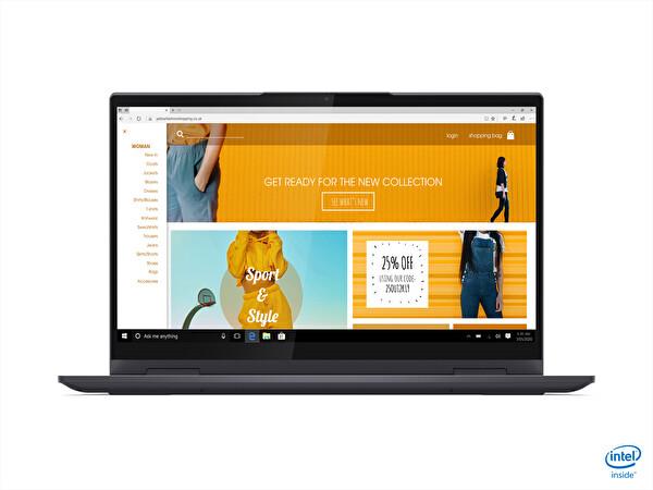 Lenovo 82BH00AGTX Yoga 7 Intel Core i7-1165G7 8 GB 512 GB SSD Entegre Intel Iris Xe Graphics 14 FHD 300 Nit W10 Notebook Gri