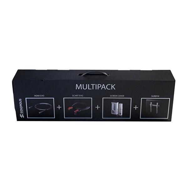 Sonorous 4 Lü Set (Sonorous Surefix 142 Askı Aparatı + Evo HDMI Kablo + Temizleme Spreyi + 6 Lı Akım Koruyucu Priz)