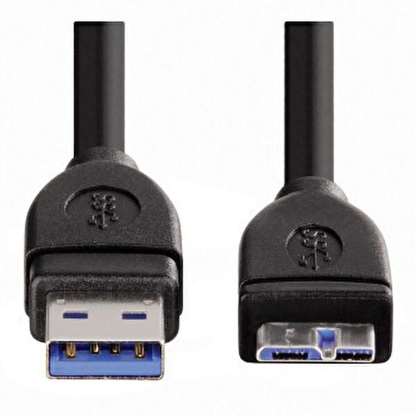 Hama 54507 Usb 3.0 A Fiş - Micro B Fiş Siyah 1.8M