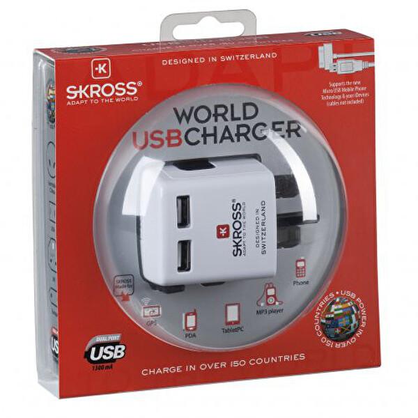 Swiss World 2Xusb Usb Charger Beyaz Seyahat Adaptörü