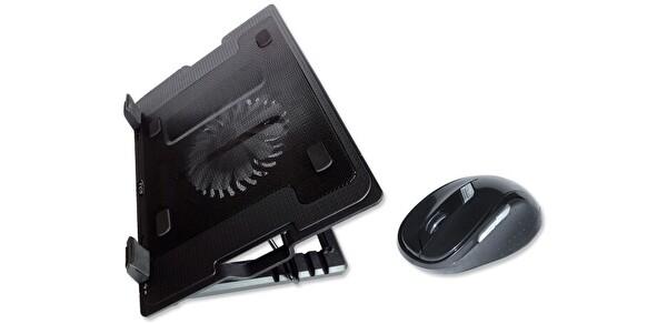 Inca Inc-341TSS Notebook Soğutucu + Kablosuz Siyah Mouse