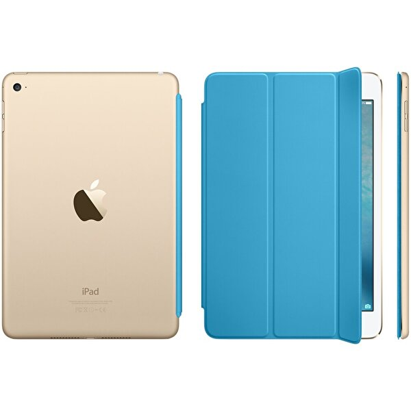 Apple MKM12ZM/A iPad Mini 4 Smart Cover - Mavi