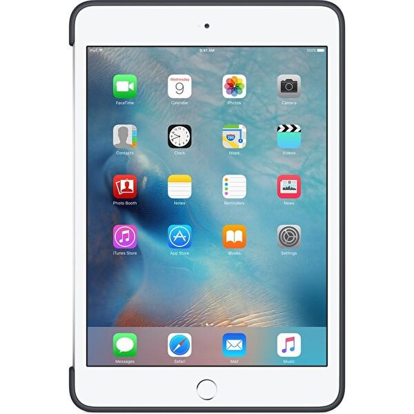 Apple MKLK2ZM/A iPad Mini 4 Silikon Kılıf - Kömür Grisi