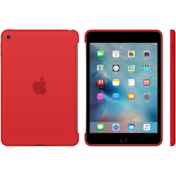 Apple MKLN2ZM/A iPad Mini 4 Silikon Kılıf - Kırmızı