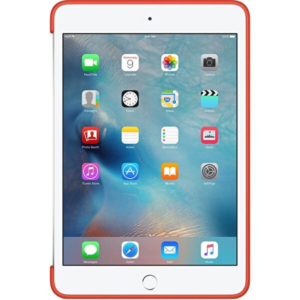 Apple MLD42ZM/A iPad Mini 4 Silikon Kılıf - Turuncu