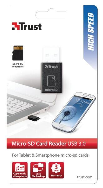 Trust 19978 Usb 3.0 Yüksek Hızlı Micro-Sd Kart Okuyucu