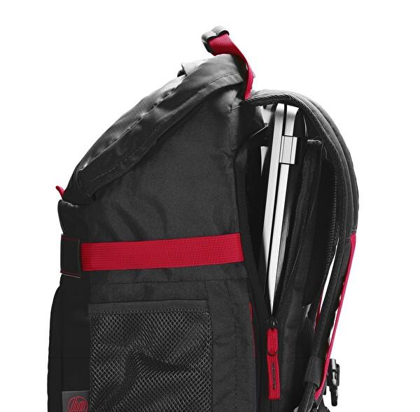 "HP X0R83AA 15.6"" Siyah-Kırmızı Odyssey Notebook Sırt Çantası"