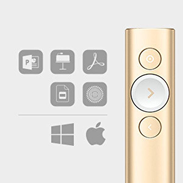 Logitech 910-004862 Spotlıght Sunum Kumandası Altın