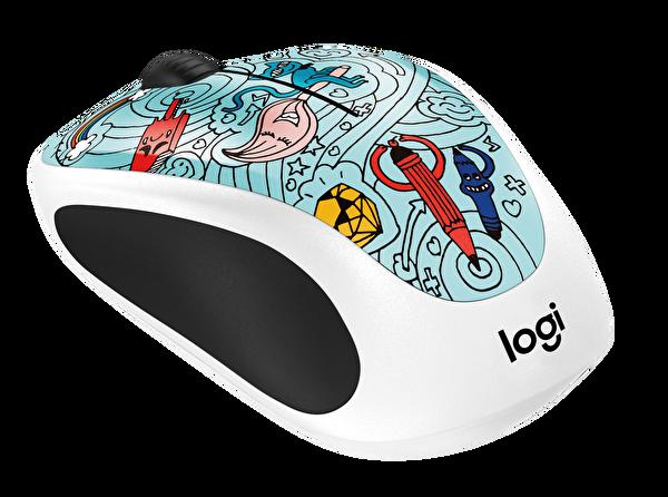 Logitech 910-005055 Doodle Collection Kablosuz Mouse (Bae Bee Blue)
