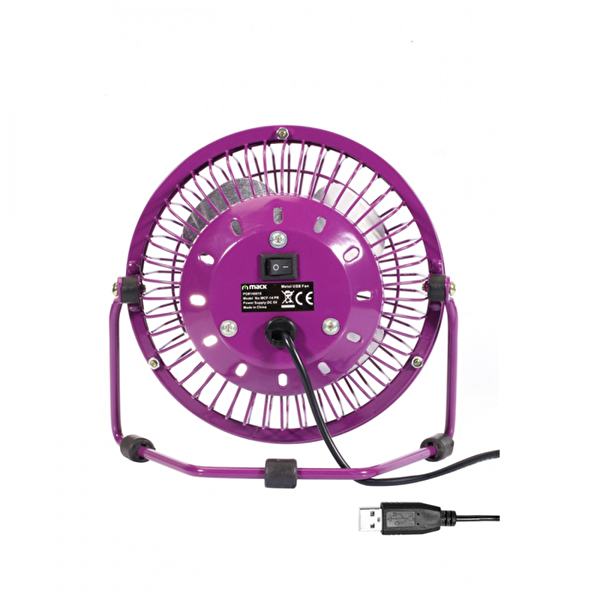 Mack MCF-14 PR Masaüstü Metal USB Fan - Mor