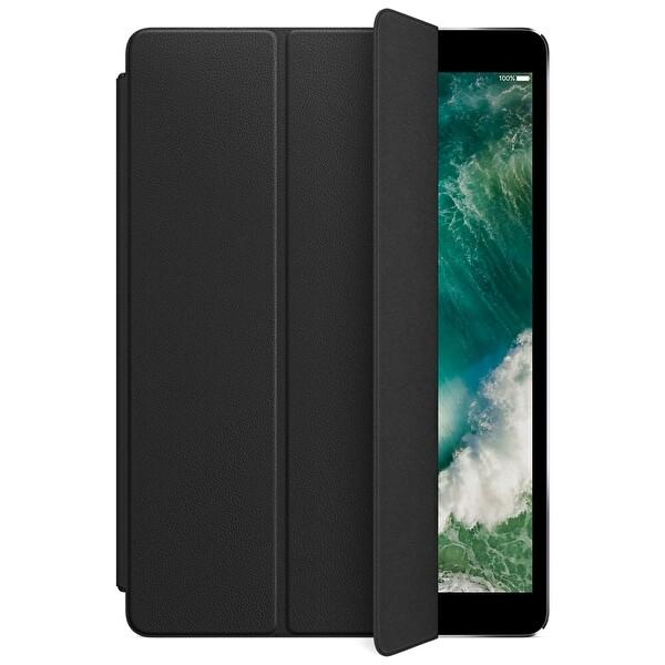 "Apple Deri Smart Cover MPUD2ZM/A iPad 7. Ve 8. Nesil, iPad Air 3. Nesil, 10.5"" iPad Pro Deri Tablet Kılıfı Siyah"