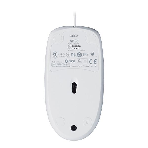 Logitech 910-005004 M100 Usb Mouse Beyaz