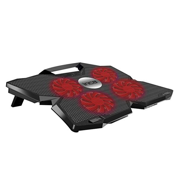 """Inca INC-3280 Gaming 4 Fan Led 17.3 """" Kırmızı Notebook Soğutucu"""