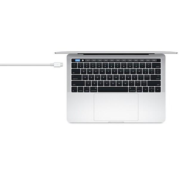 Apple MQ4H2ZM/A Thunderbolt 3 - Thunderbolt 3 40 GB/s Kadar Hızlı Veri Aktarım Ve Şarj Kablosu Beyaz 0.8m