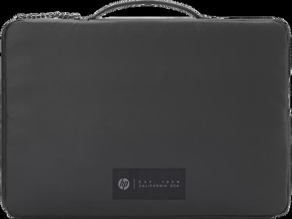 HP 15.6 inç Üstten Kulplu Yandan Fermuarlı İnce Spor NotebookÇantası- Siyah