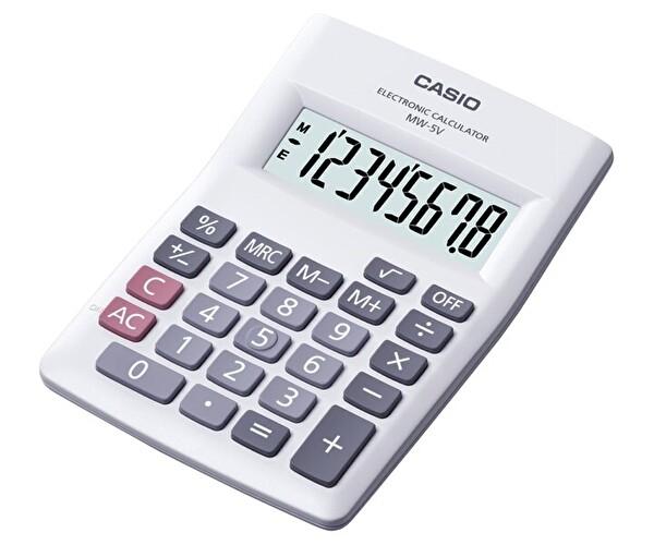Casio Mw 5 Bk-We Masaüstü Hesap Makinesi