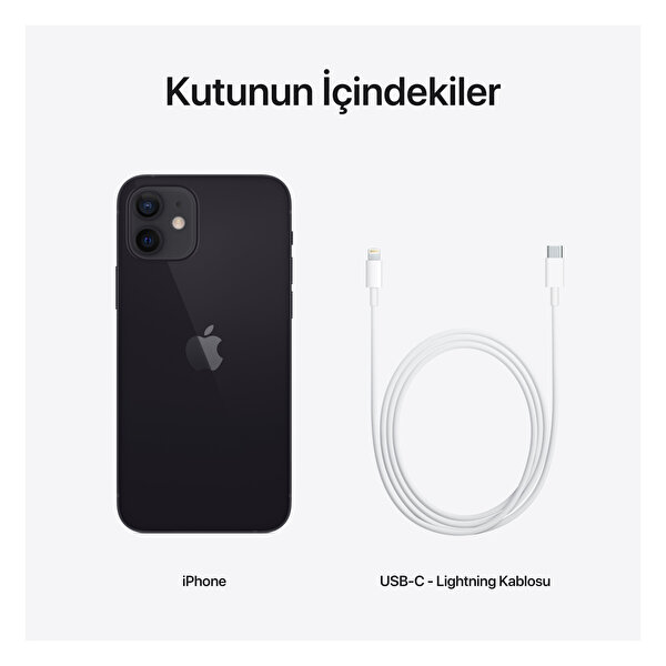 Apple iPhone 12 64GB Black Akıllı Telefon