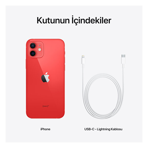 Apple iPhone 12 64GB (Product)Red Akıllı Telefon