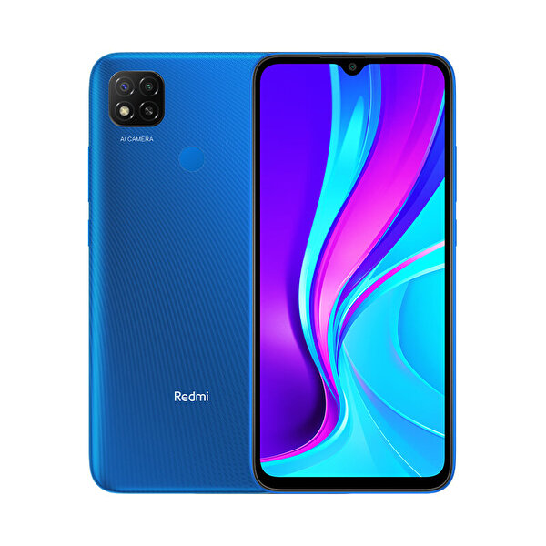 "Xiaomi Redmi9c 3GB/64GB 6.53"" Akıllı Telefon Mavi"