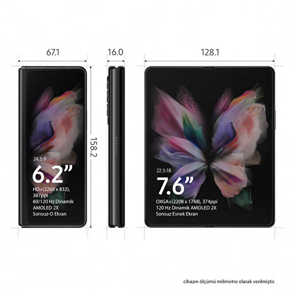 Samsung Galaxy Z Fold3 5G Akıllı Telefon Siyah