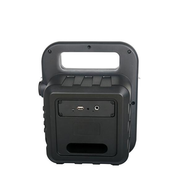 Hometech BTH-500 Taşınabilir Mikrofonlu BT Speaker Amfi