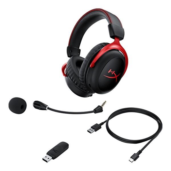 HyperX Cloud II Wireless 7.1 HHSC2X-BA-RD/G Gaming Kulalık Kırmızı