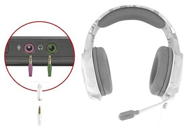 Trust 20864 GXT322W Carus PC/Konsol Oyuncu Kulaklığı - Beyaz Kamuflaj