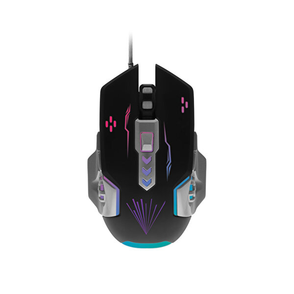 Preo My Game MG14 Kablolu Gaming Mouse Siyah Gri + Işıklı Mouse Pad