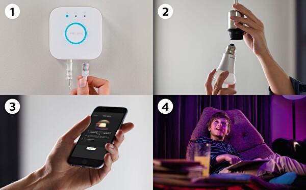 Philips Hue GU10 Renkli Akıllı Spot 3 lü Başlangıç Seti