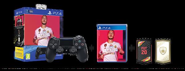 Sony PS4 Dualshock v2 Siyah + FIFA 20 PS4 Oyun + 14 Günlük PS Plus Üyelik